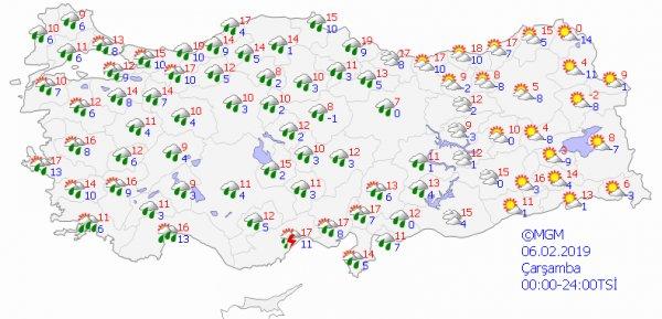 İstanbul ve yurt genelinde hava durumu