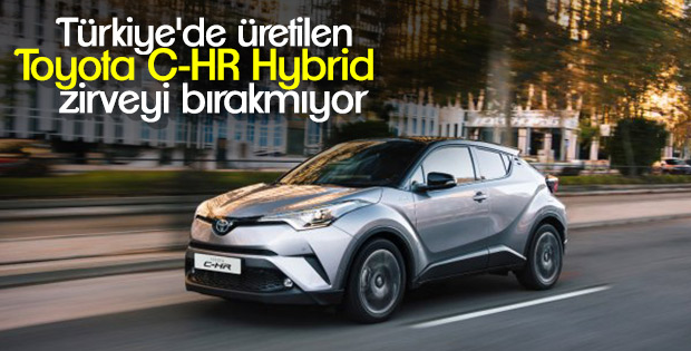 Türkiye'de üretilen 'Toyota C-HR Hybrid' zirvede