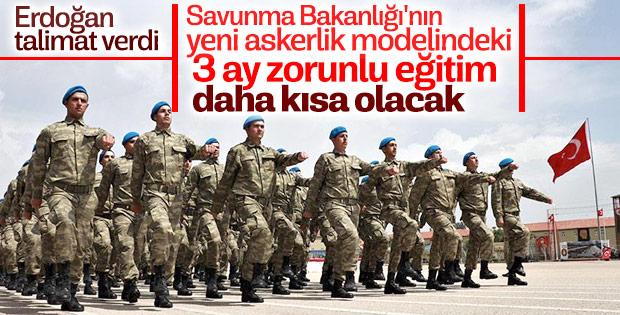 Yeni askerlik sisteminde temel eğitim süresi uzun