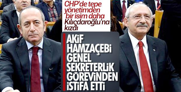 Akif Hamzaçebi CHP'deki görevinden istifa etti