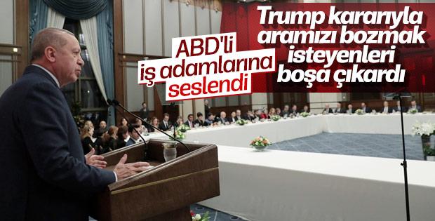 Cumhurbaşkanı Erdoğan ABD'li iş insanlarıyla bir araya geldi