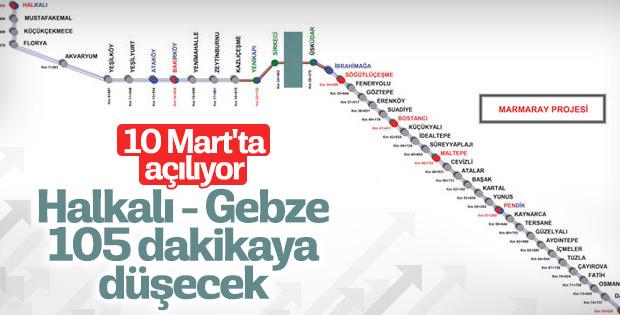 Halkalı-Gebze tren hattı 10 Mart'ta açılacak