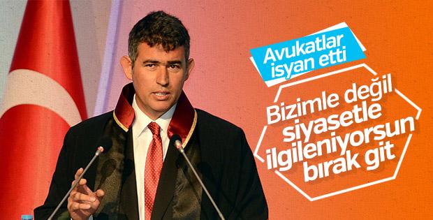 Avukatlar, Metin Feyzioğlu'nun istifa etmesini istiyor