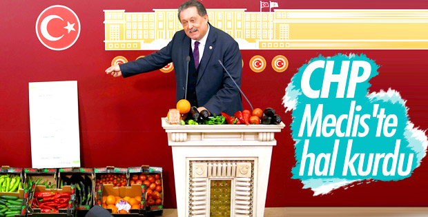 Meclis'te domatesli biberli basın toplantısı