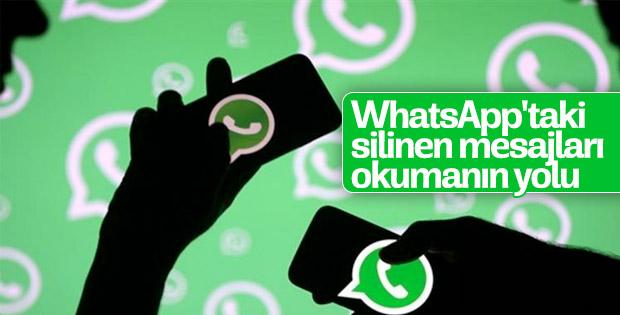 İşte WhatsApp'taki silinen mesajları okumanın yolu..