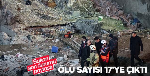 Kartal'da çöken binada ölü sayısı 17 oldu