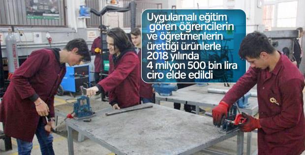 Samsun'da fabrika gibi çalışan okul