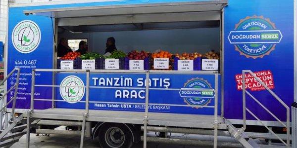 Tanzim satış noktalarında sebze fiyatları
