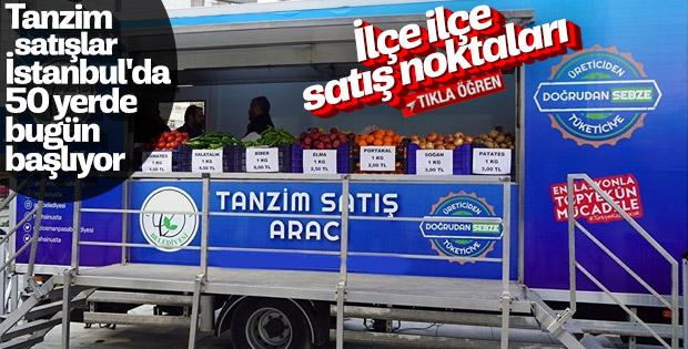 İstanbul'da tanzim satışların yapılacağı yerler
