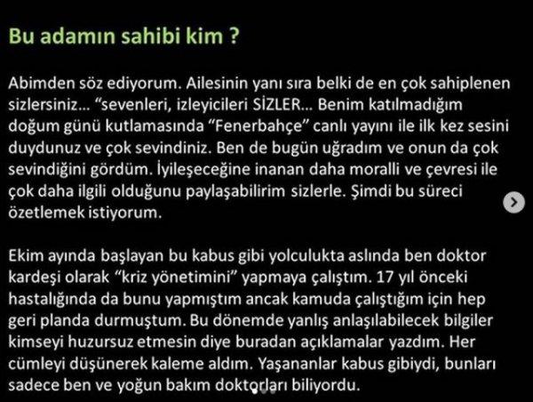 Doktor kardeşinden Mehmet Ali Erbil açıklaması
