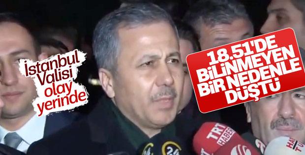 İstanbul Valisi helikopter kazasını inceledi