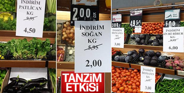 Tanzim sonrası marketler de fiyat düşürdü