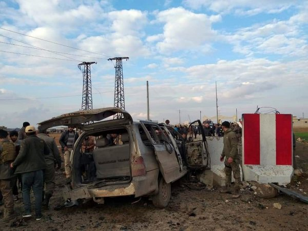 Çobanbey Sınır Kapısında patlama