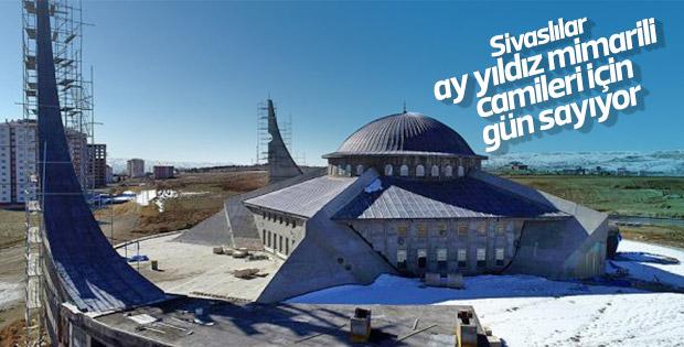 Ay yıldız mimarili cami açılışa hazırlanıyor