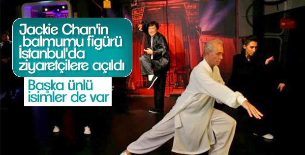 Aktör Jackie Chan'in balmumu figürü sergilenmeye açıldı