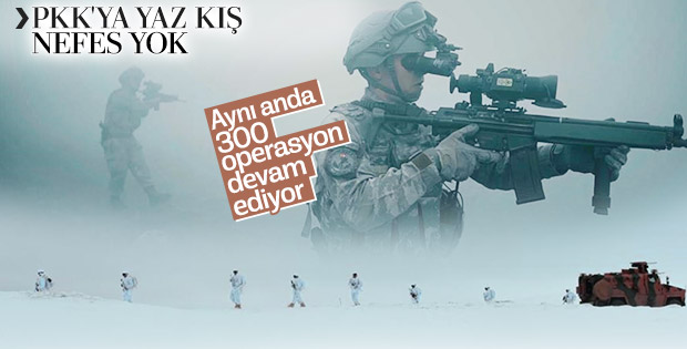 PKK'ya karşı aynı anda 300 operasyon
