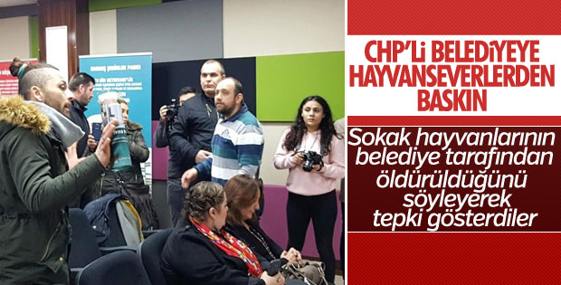 CHP'nin proje tanıtım toplantısını hayvansever bastı