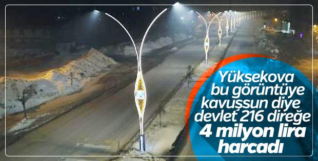 Yüksekova'nın modern aydınlatma sistemi hizmete açıldı