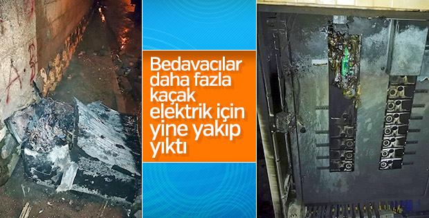 Kaçak elektrik kullananlar yine panolara saldırdı
