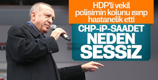 Erdoğan: Polisin kolunu ısıran vekil için gereğini yapıyoruz