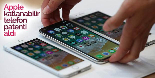Apple, katlanabilir telefon patenti aldı