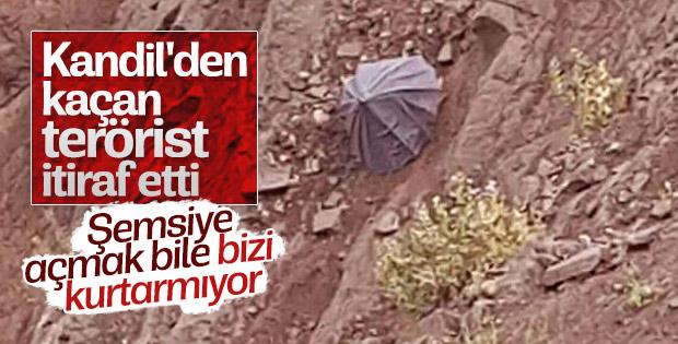 Teslim olan PKK'lı örgütteki çözülmeyi itiraf etti
