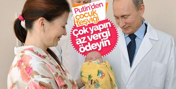 Putin'den aile teşviği