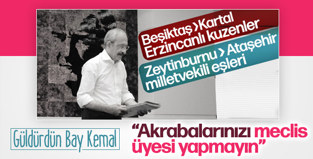 Kılıçdaroğlu'ndan partisine akrabalık talimatı