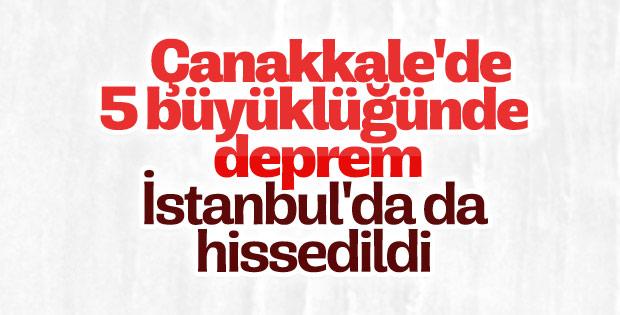 İstanbul'da hissedilen deprem