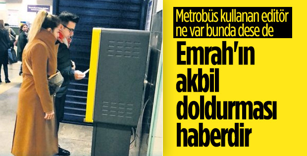 Metroyla yolculuk yapan Emrah