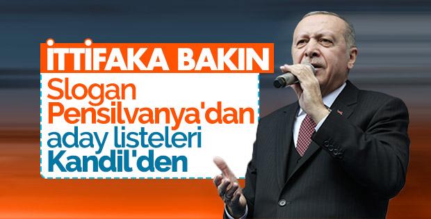 Erdoğan Fethiye mitinginde CHP'yi eleştirdi