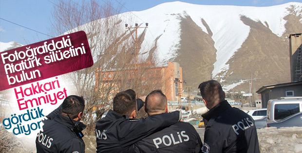 Atatürk'ün silüeti Hakkari'de