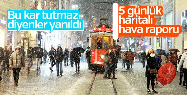 5 günlük hava raporu: Kar İstanbul'u terk edecek