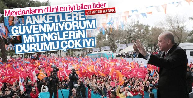 Erdoğan'dan anketler hakkında açıklama