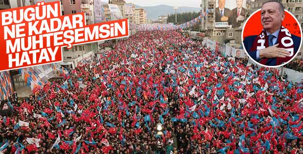 Cumhurbaşkanı Erdoğan Hatay'da mitinge katıldı