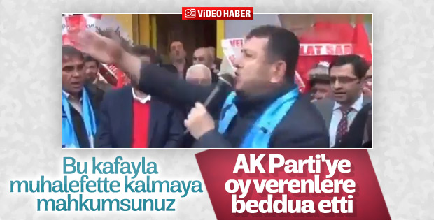 CHP'den seçmene hakaret