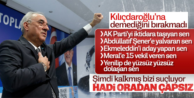 DSP Lideri Aksakal'dan CHP'ye: Hadi oradan çapsızlar