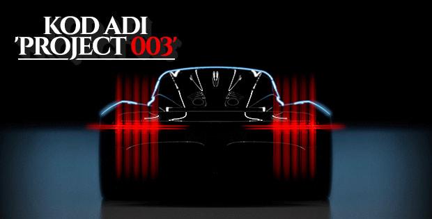 Aston Martin 'Project 003'ü görücüye çıkaracak