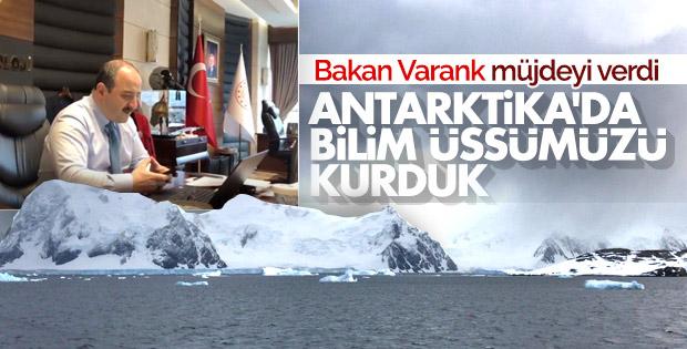 Bakan Varank: Antarktika'da geçici bilim üssünü kurduk