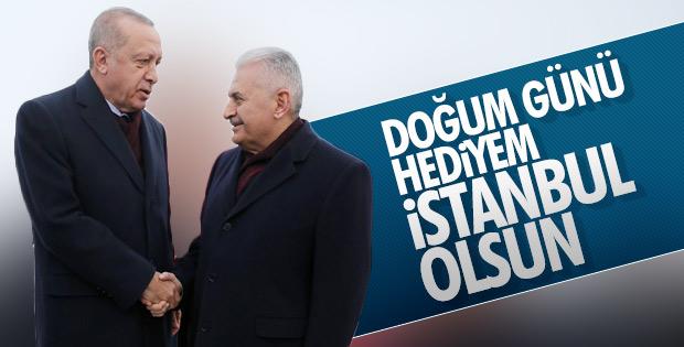 Binali Yıldırım, Cumhurbaşkanı Erdoğan'ın doğum gününü kutladı