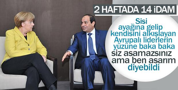 Darbeci Sisi Avrupalı liderlere idam savunması yaptı