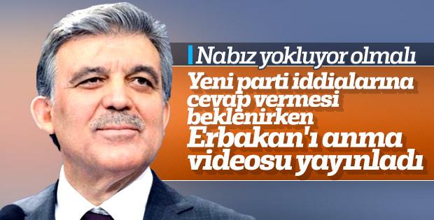 Abdullah Gül'den Necmettin Erbakan mesajı
