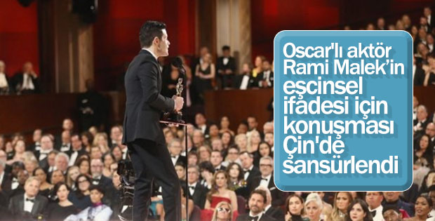 Rami Malek'in Oscar konuşmasına Çin'de sansür