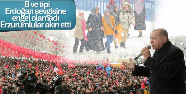 Cumhurbaşkanı Erdoğan'ın Erzurum mitingi