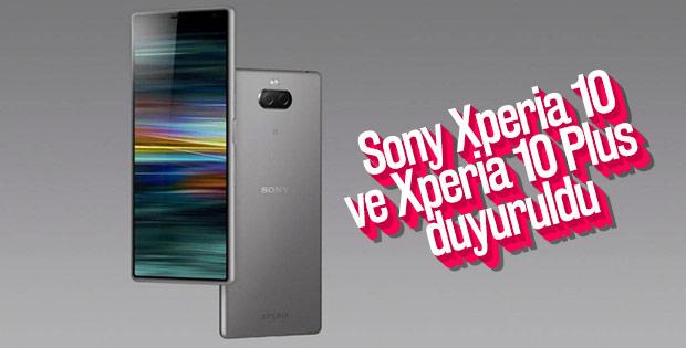 Sony Xperia 10 ve Xperia 10 Plus duyuruldu