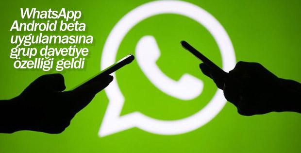 WhatsApp, android beta uygulamasına grup davetiye özelliğini ekledi