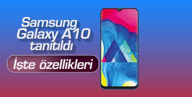 Samsung Galaxy A10 resmi olarak tanıtıldı.. İşte Galaxy A10 Özellikleri