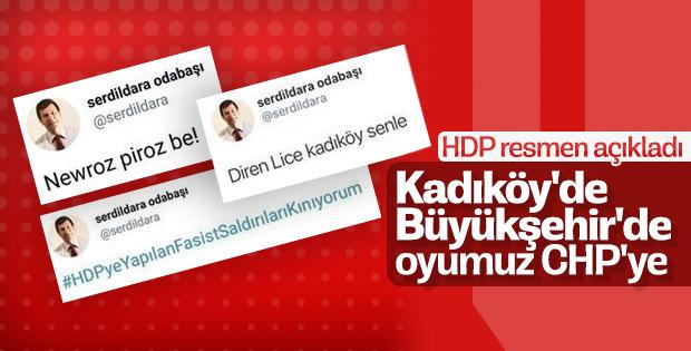 HDP'li yönetici: Seçmenimiz Kadıköy'de CHP'ye oy verecek