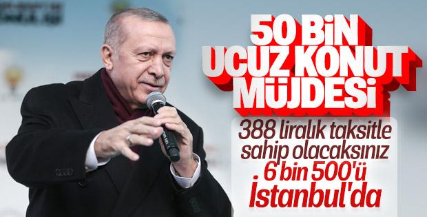 Cumhurbaşkanı Erdoğan'dan 388 lira taksitle konut müjdesi