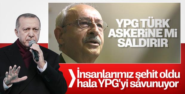 Cumhurbaşkanı Erdoğan: Kılıçdaroğlu, YPG'yi savunuyor